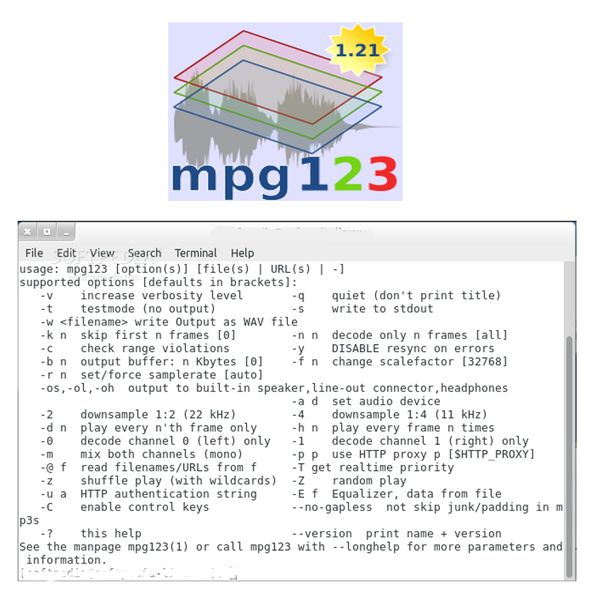 mpg123 — MPEG-плеер 1/2/3 аудиоплеер