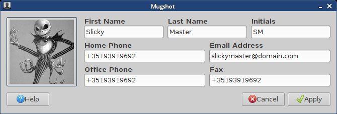 mugshot — легкое приложение для настройки пользователем