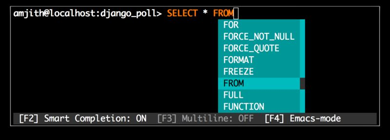 mycli — CLI для MySQL /MariaDB