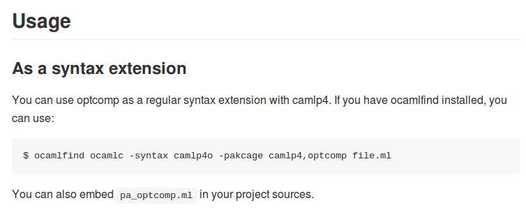 optcomp — расширение синтаксиса для дополнительной компиляции с cpp-подобными директивами (инструментами)