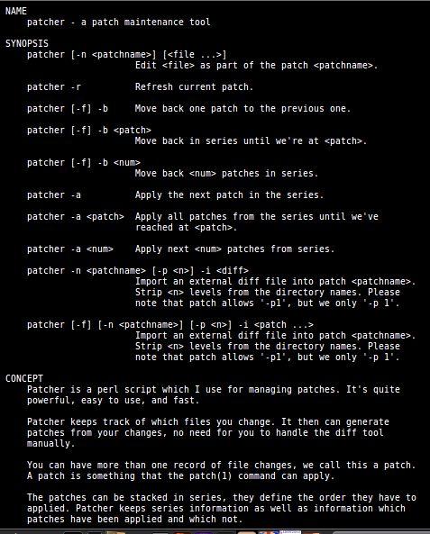 patcher — perl-скрипт, полезный для управления исправлениями