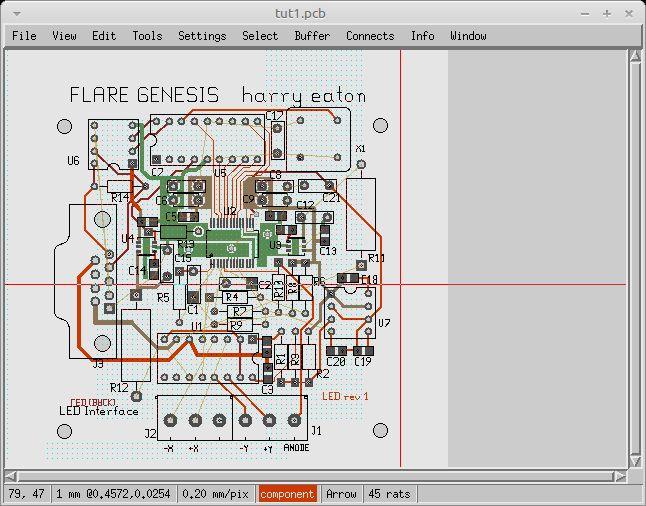 pcb-lesstif — программа для печатной платы (pcb) - интерфейс LessTif