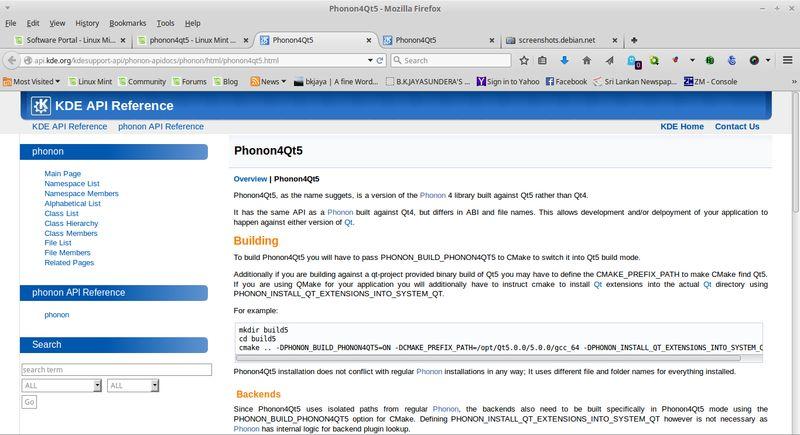 phonon4qt5 — мультимедийная среда из KDE с использованием Qt 5 - метапакет