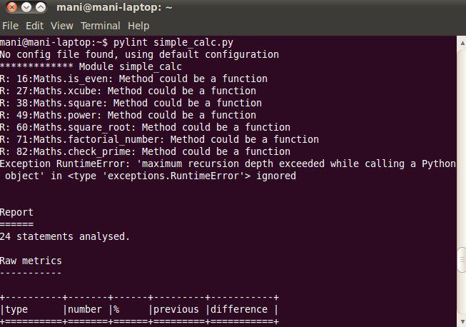 pylint — Статический контролер кода Python и генератор диаграмм UML