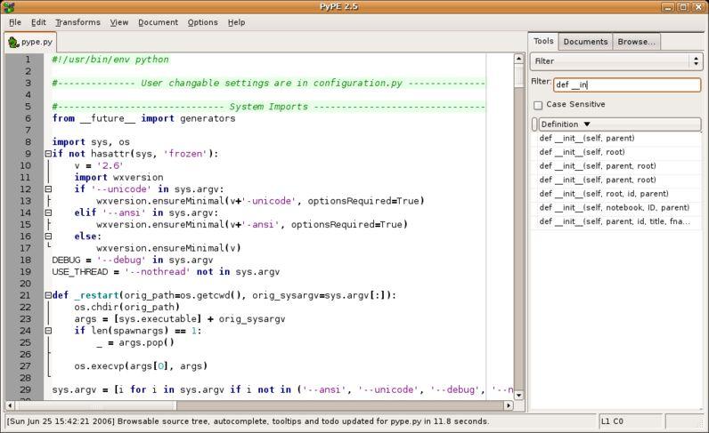pype — Редактор программ Python