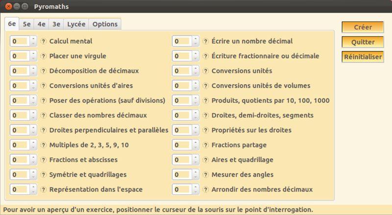 pyromaths — Генератор для математических таблиц для французского колледжа.