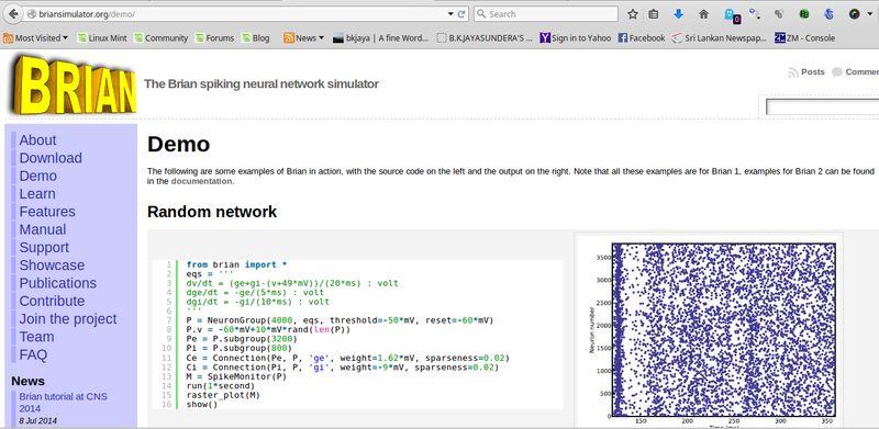 python-brian — симулятор для создания нейронных сетей