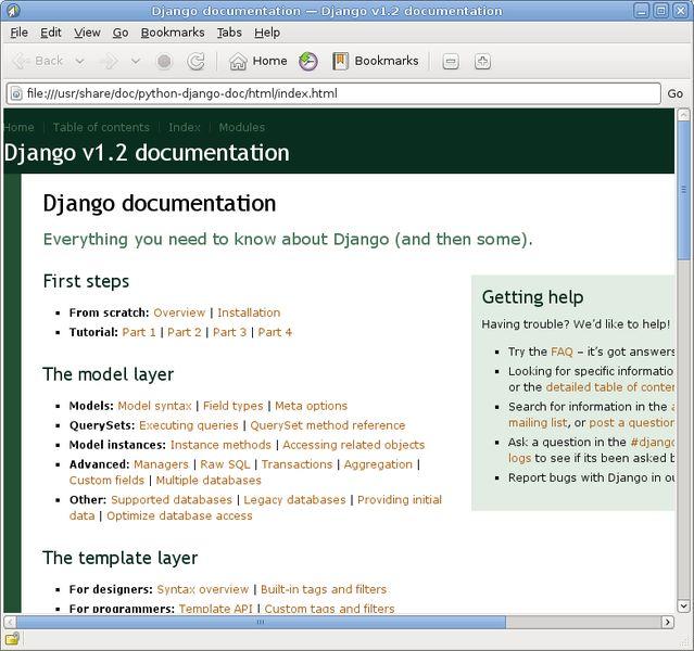 python-django — Высокоуровневая инфраструктура веб-разработки Python (версия Python 2)
