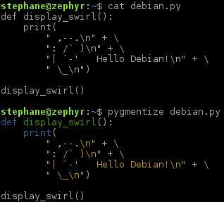 python-pygments — пакет подсветки синтаксиса, написанный на Python