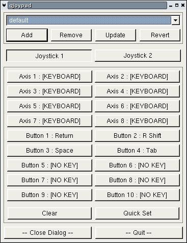 qjoypad — Программа для отображения событий gamepad/joystick для события mouse /keyboard