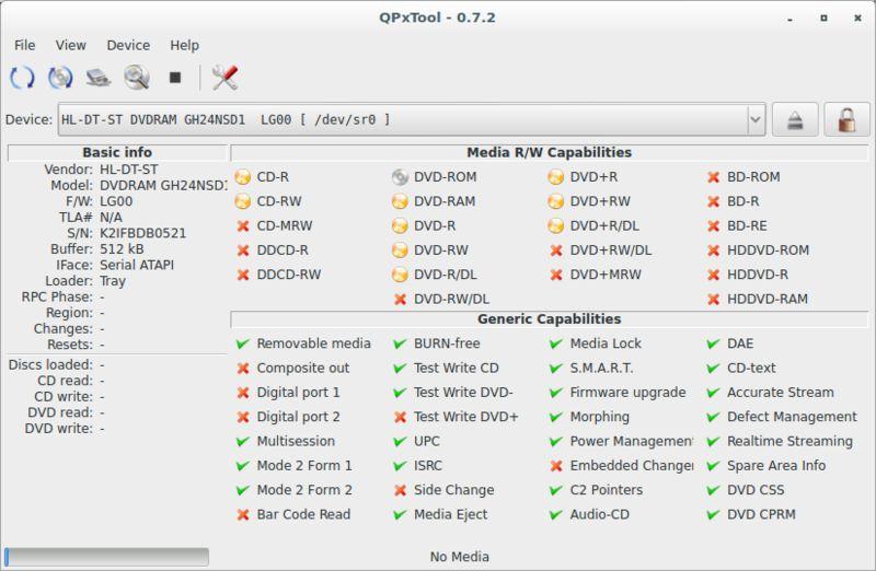 qpxtool — Проверка качества CD / DVD