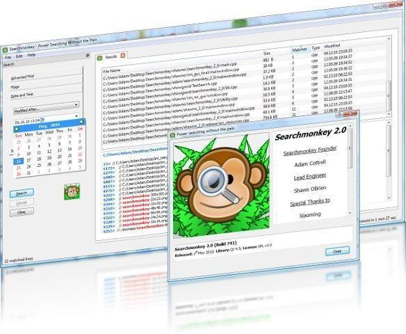searchmonkey — поиск файлов с использованием регулярных выражений с целью замены инструментов find/grep