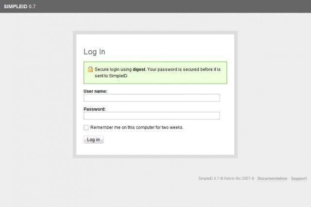 simpleid — простой поставщик OpenID, реализованный в PHP