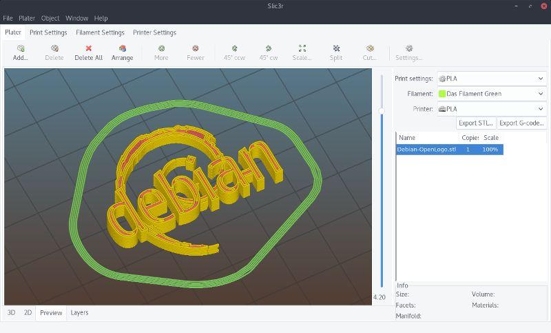 slic3r — Генератор G-кода для 3D-принтеров