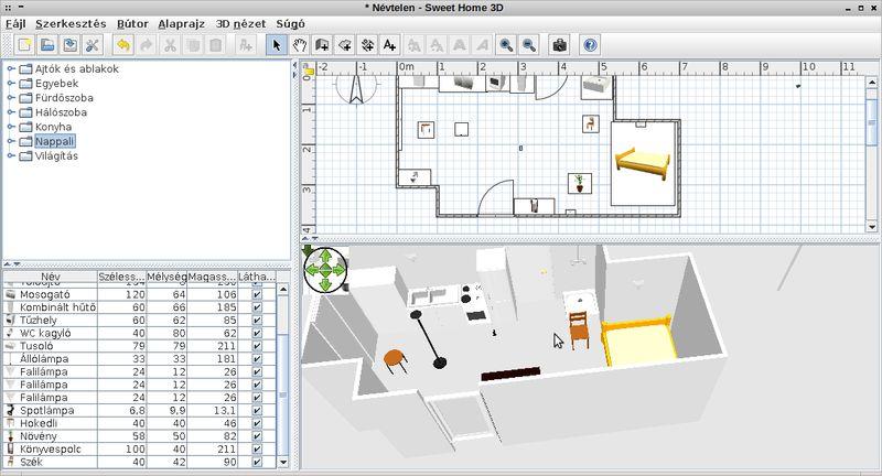 sweethome3d — Интерьерное 2D-приложение с 3D-превью