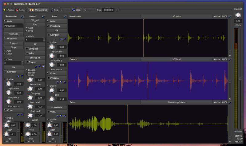 terminatorx — аудио синтезатор в реальном времени