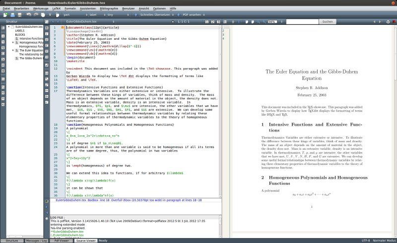 texmaker — кросс-платформенный редактор LaTeX