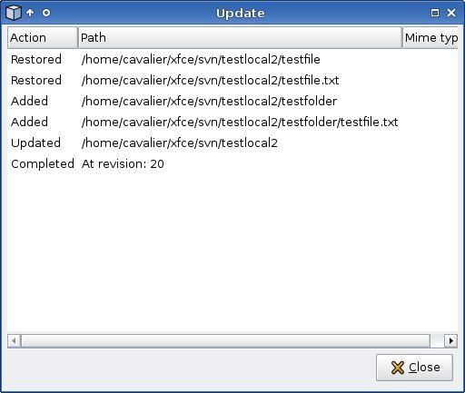 thunar-vcs-plugin — Плагин VCS для файлового менеджера Thunar