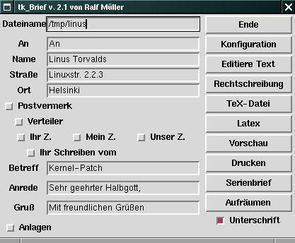 tk-brief — GUI для удобного написания писем с помощью LaTeX