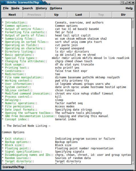 tkinfo — Информационный браузер Tcl/Tk
