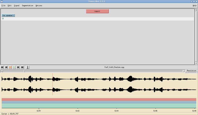 transcriber — транскрибировать речевые данные с помощью встроенного редактора
