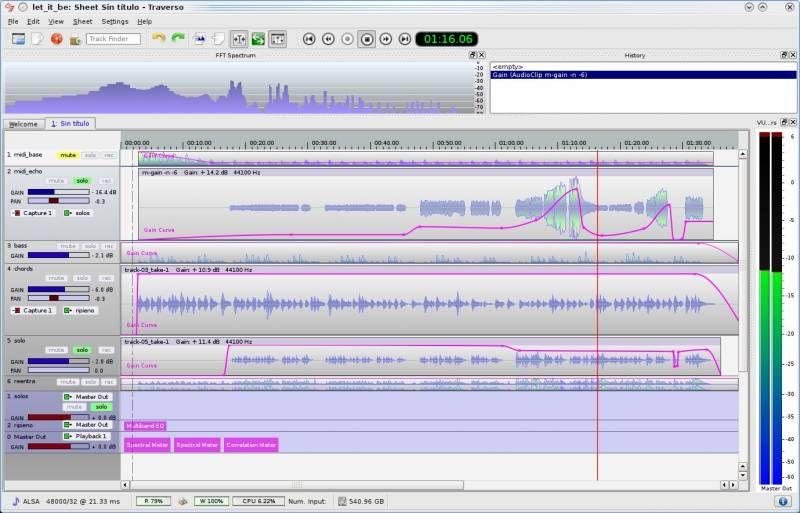 traverso — Многодорожечный аудиорекордер и редактор