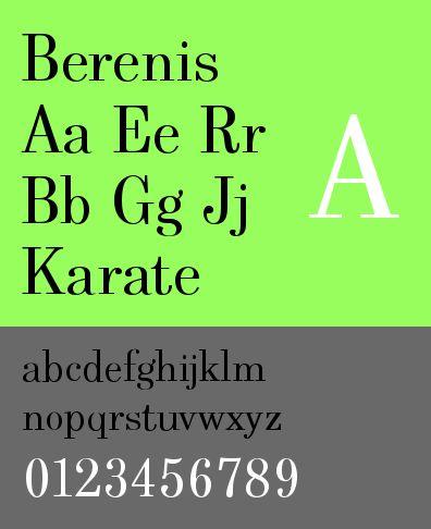ttf-adf-berenis — Шрифт Берениса цифровой литейной машины Arkandis