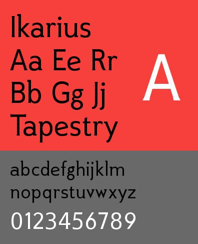 ttf-adf-ikarius — Икарийский шрифт Аркандской цифровой литейной машины