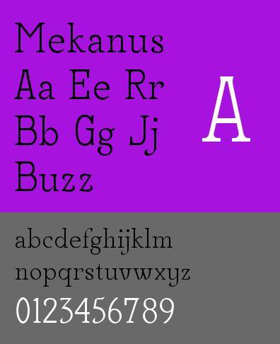 ttf-adf-mekanus — Шрифт Mekanus цифровой литейной системы Arkandis