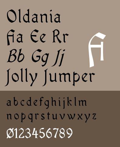 ttf-adf-oldania — Шрифт Oldania для цифровой литейной системы Arkandis