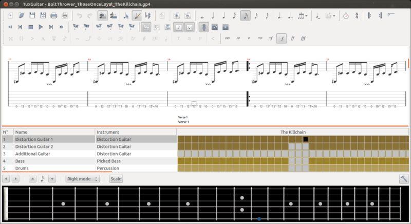 tuxguitar — Редактор и проигрыватель таблеток для многодорожечной гитары (от gp3 до gp5)