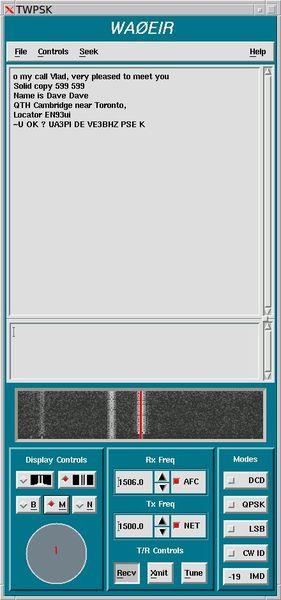 twpsk — Звуковая карта X-программы для работы PSK31
