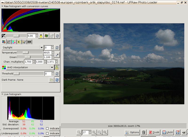 ufraw — автономный импортер для необработанных изображений камеры