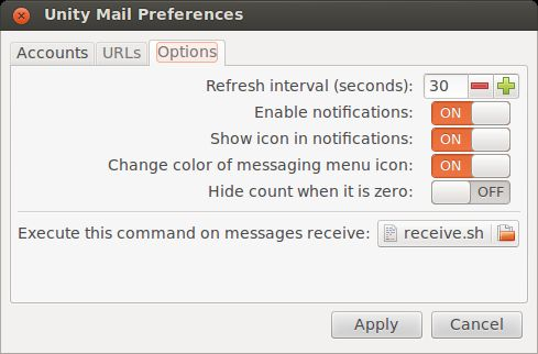 unity-mail — Почтовые уведомления и подсчет для Unity / MATE / Xfce / LXDE / и т. Д.