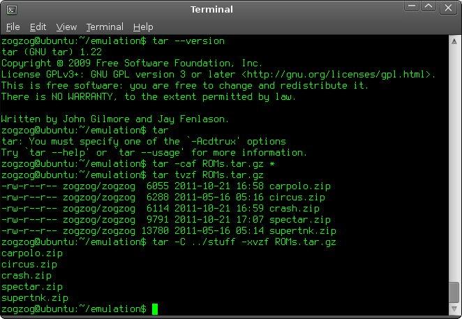 tar — Версия утилиты архивации tar для GNU