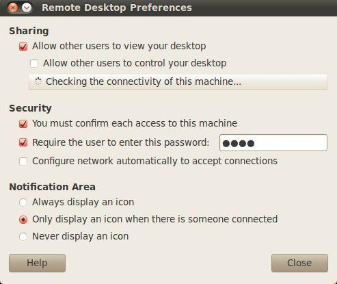 vino — Сервер VNC для GNOME
