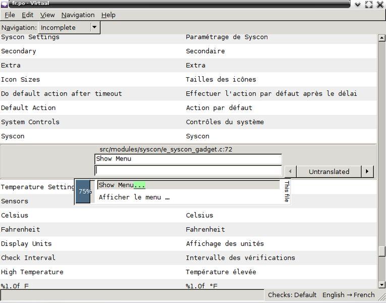 virtaal — редактор графической локализации и многоформатный инструмент перевода