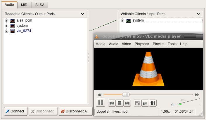 vlc-plugin-jack — Джек аудио плагины для VLC