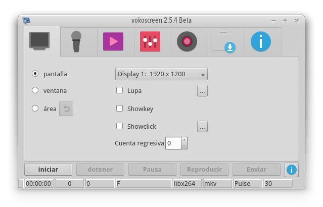 vokoscreen — простой в использовании создатель скринкастов