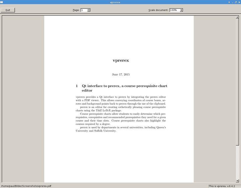 vprerex — Qt-интерфейс для prerex, редактор необходимых предварительных данных курса