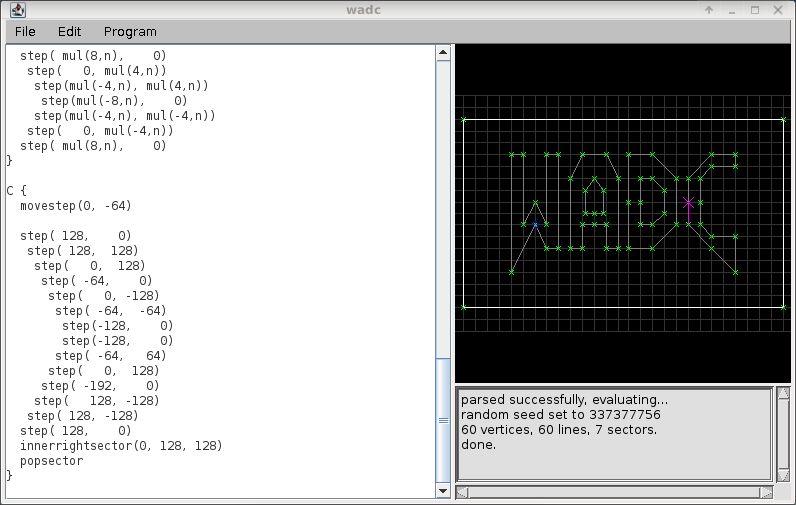 wadc — среда программирования для создания карт Doom