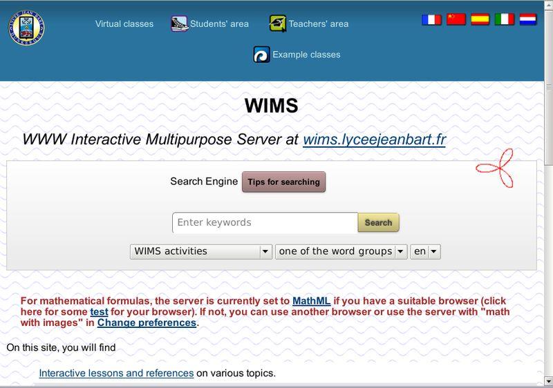 wims — сервер для образовательного контента: курсы, упражнения и экзамены
