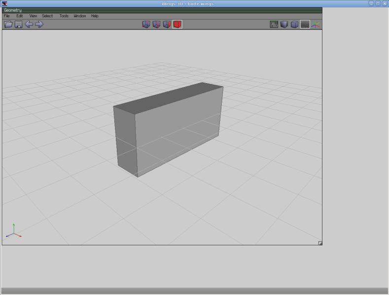 wings3d — Модель 3D-многоугольной сетки Nendo