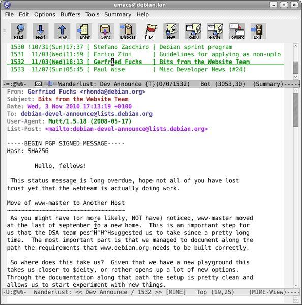 wl-beta — mail/news reader, поддерживающий IMAP для emacsen (версия для разработки)