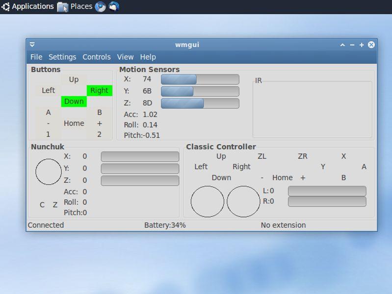 wmgui — Интерфейс GUI для wiimote