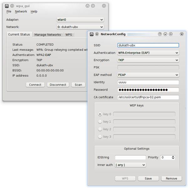 wpagui — графический пользовательский интерфейс для wpa_supplicant