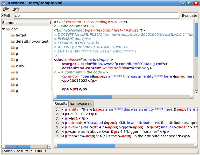 xacobeo — Визуализатор XPath (XML Path Language)