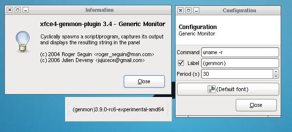 Установка xfce4-genmon-plugin в Ubuntu / Linux Mint / Debian