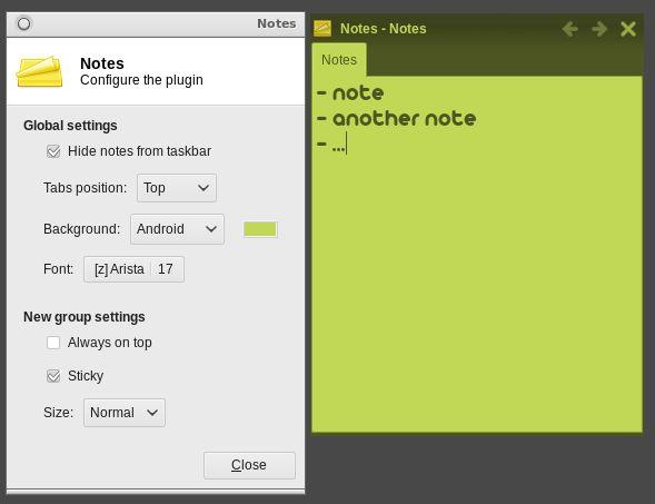xfce4-notes — Приложение Notes для рабочего стола Xfce4