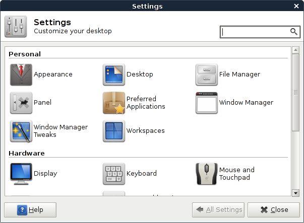 Установка xfce4-settings в Ubuntu / Linux Mint / Debian